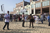 Asbury Park Zombie Walk 2013 - Zombies on Beach — Stock Photo