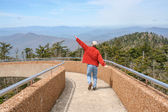 Pretending to Fly at Clingman's Dome — Stock Photo