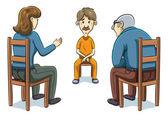 Cartoon people Investigation — Stock Vector
