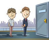 Two Job Seekers — Stock Vector