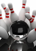 Bowling - the strikes — Stock Photo