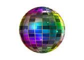 Farbdruck seltsame Disco-Kugel — Stockfoto