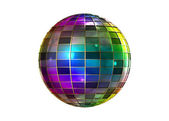 Fyrfärg konstiga discokula — Stockfoto