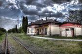 Antiga estação ferroviária — Fotografia Stock
