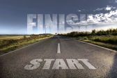 Start - finisch concept — Stock Photo