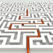 In the labyrinth - business concept — Foto de Stock