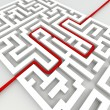 Business labyrinth success concept — Foto Stock