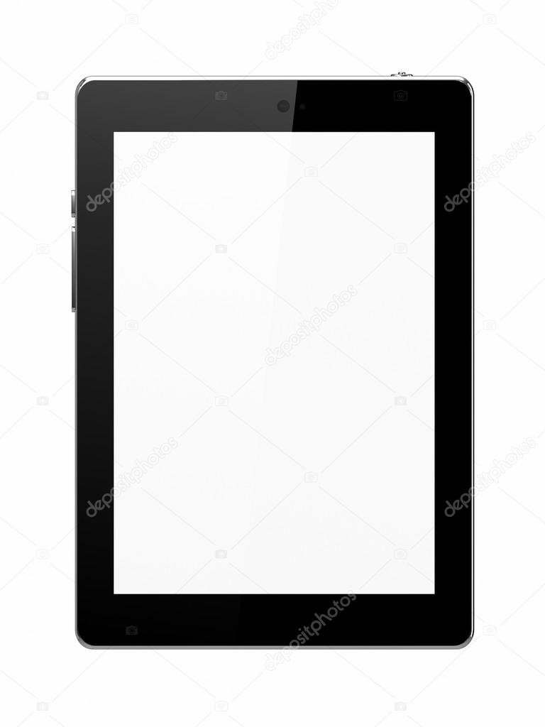 White tablet isolated with blank screen — Stock Photo #13282575