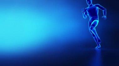 Human knee running man sport anatomy — Stock Video