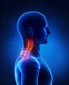 Cervical spine lateral view — Stock Photo