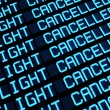 Stock Photo: Cancelled Flights Departures Board