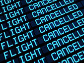 Cancelled Flights Departures Board — Stock Photo