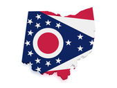 Ohio Map 3d Shape — Stock Photo