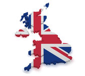 United Kingdom 3d Shape — Stock Photo