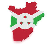 Burundi Map 3d Shape — Stock Photo
