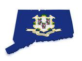 Connecticut Map 3d Shape — Stock Photo