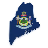 Maine Map 3d Shape — Stock Photo