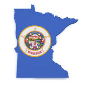 Minnesota Map 3d Shape — Stock Photo