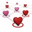 Love And Social Network Concept — Stock Photo