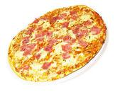 Pizza Ham And Mozzarella — Stok fotoğraf