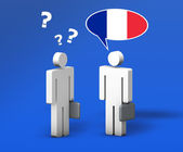 Business French Chat — Stock Photo