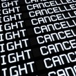 Stock Photo: Airport Board Cancelled Flights