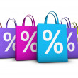 Shopping Bags Discount Concept — Stock Photo