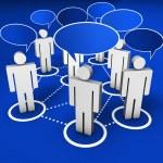 Social Network Internet Community — Stock Photo