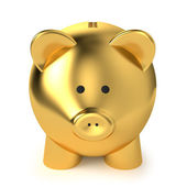 Golden Piggy Bank — Stock Photo