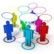 Social Networking Internet Concept — Stock Photo