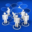 Social Network Community — Stock Photo