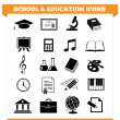 School And Education Icons — Stock Vector #23579087