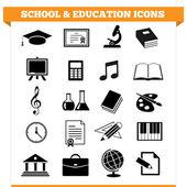 Školy a vzdělání ikony — Stock vektor