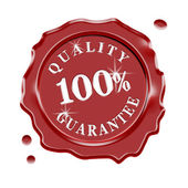 Wax Seal Quality Guarantee — Stock Photo