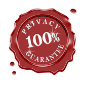 Privacy Guarantee Wax Seal — Stock Photo