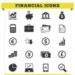 Stock Vector: Financial Icons Vector Set