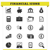 Financial Icons Vector Set — Stock Vector