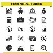 Financial Icons Vector Set — Stock Vector