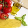Spaghetti Ingredients — Stock Photo