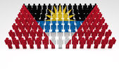 Antigua And Barbuda Flag Parade — Stock Photo