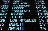 Havaalanı kurulu uluslararası gidilecek görüntülemek — Stok fotoğraf