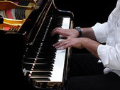 Pianist Plays Jazz Music — Stock Photo