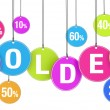 Soldes Shopping Concept — Stock Photo