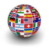 Globe International World Flags — Stock Photo