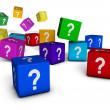 Question Marks Cubes — Stock Photo #30565629