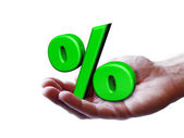 Business Percentage Concept — Stock Photo