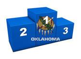 Oklahoma State Flag Podium — Stock Photo