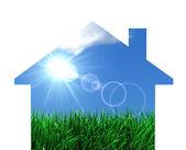 Green Eco House Concept — Stock Photo