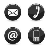 Contact Us Web Buttons Icons — Stock Photo