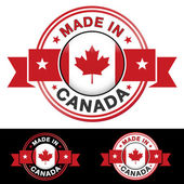 Made In Canada Badge — Stock Vector